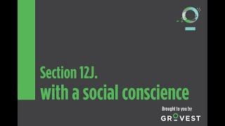 The Section 12J Show: Investing with a Social Conscience