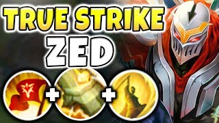 THIS NEW KEYSTONE MAKES ZED ACTUALLY GOD-TIER! UNREAL TRUE DAMAGE COMBOS! - League of Legends