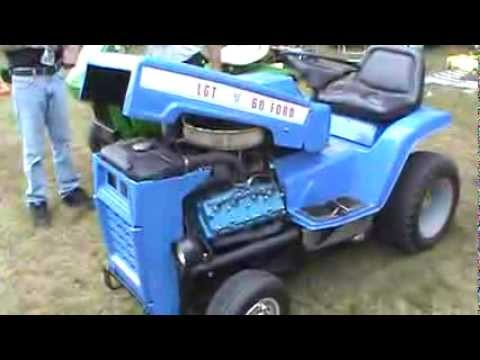 ford garden tractor with V8 YouTube