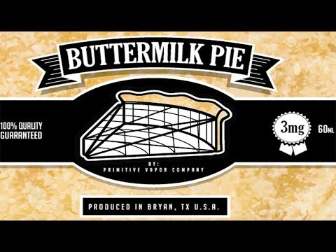 Primitive Vapor Company - Buttermilk Pie