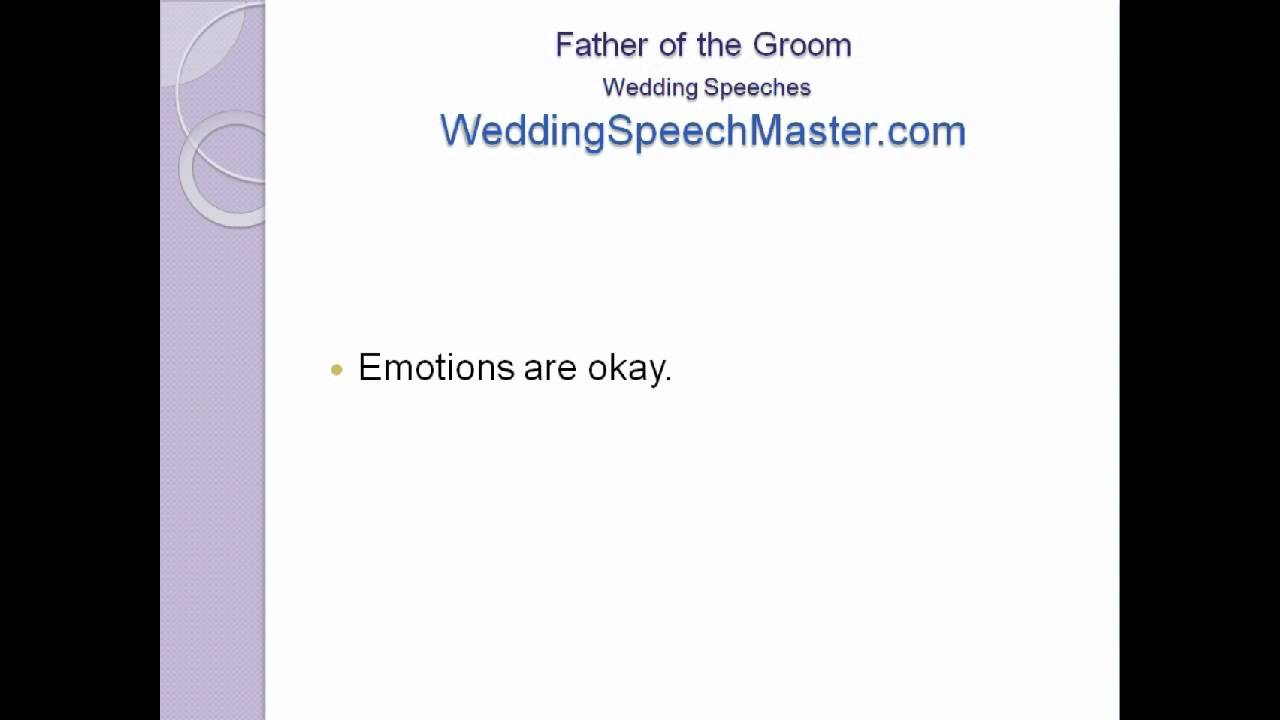 Father Of The Groom Wedding Speech Tips For Proud Dads