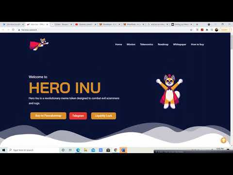 Hero Inu PRESALE going on now! Step by Step instructions and on how to participate. Dont Miss out!