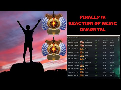 DOTA 2 REACTION OF BEING IMMORTAL RANK MMR!!! | JOURNEY IS FINALLY OVER | ALL GAMES WON? |