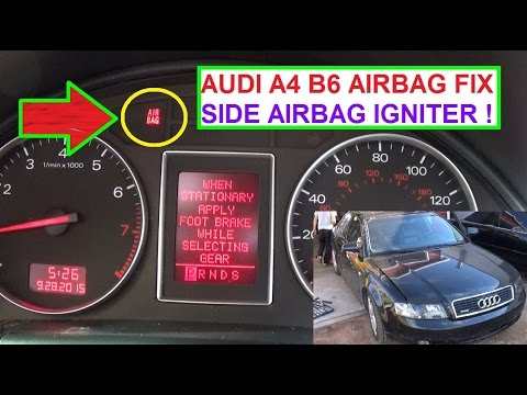 audi a4 airbag wiring diagram diagramming compound sentences worksheets b6 light on fix side igniter air bag