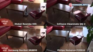Roomba vs Navibot vs Cleanmate vs Philips Homerun coverage test