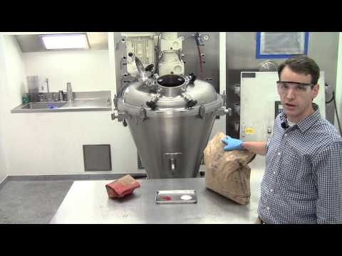 Mixing Dry Powders - Conical Screw Mixer Demonstration