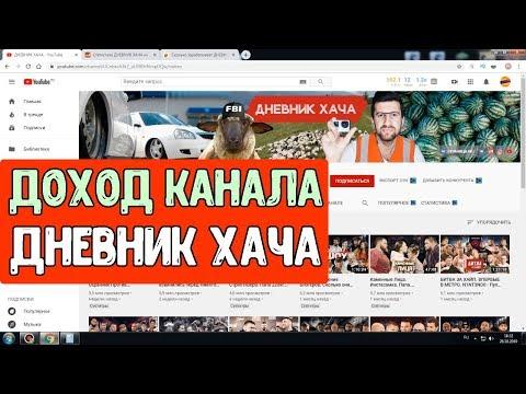 Доход канала ДНЕВНИК ХАЧА на Ютубе