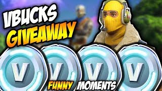 *V-BUCKS GIVE AWAY* - FORTNITE FUNNY MOMENTS (2018, 20 DOLLAR GIFT CARD)