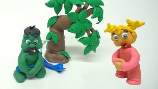 Green and Yellow Baby in NEED TO GO - Stop Motion Cartoons For Kids #34