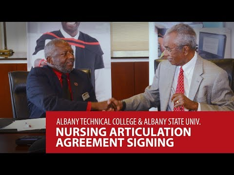 Albany Technical College & Albany State University Nursing Atrticulation Agreement Signing