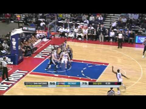San Antonio Spurs vs Detroit Pistons   February 10, 2014   NBA 2013-14 Season