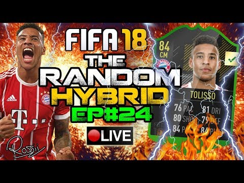 OTW 84 TOLISSO!! WHAT A CARD!! THE RANDOM HYBRID EPISODE 24! FIFA 18