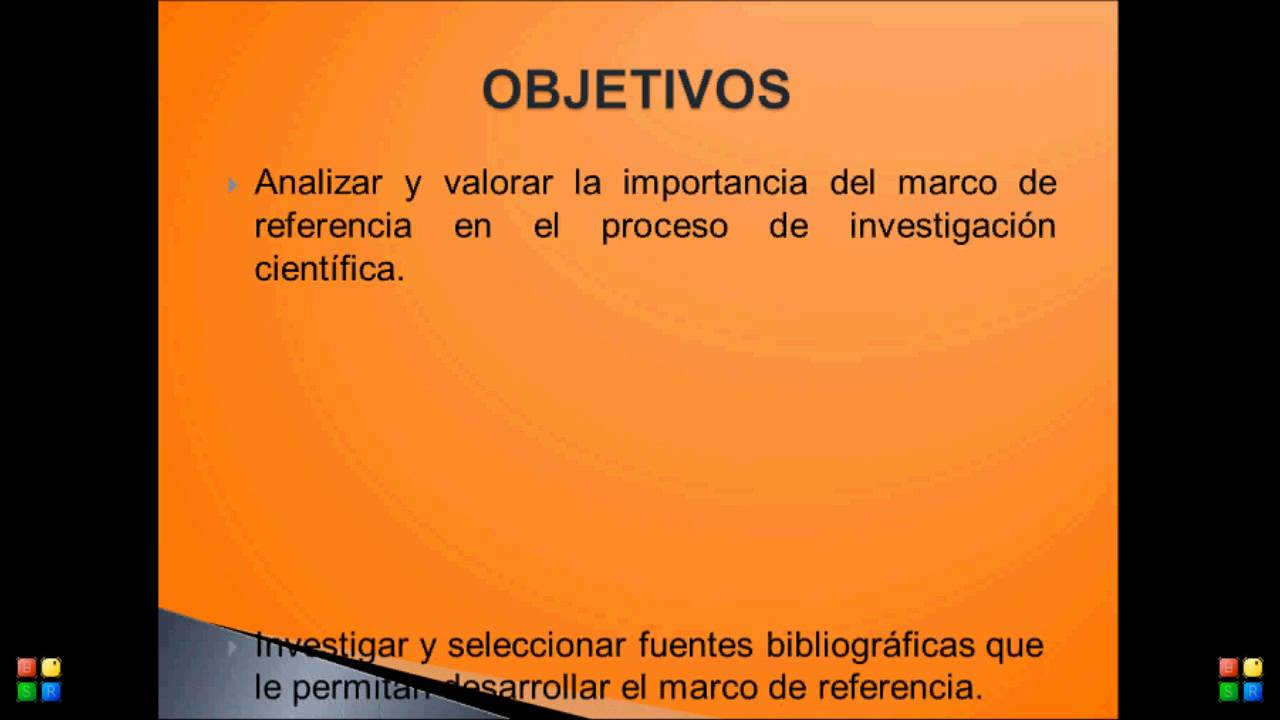 objetivos marco de referencia - YouTube