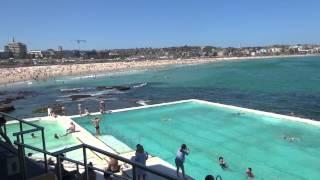 Bondi Beach Schwimmbad und Strand