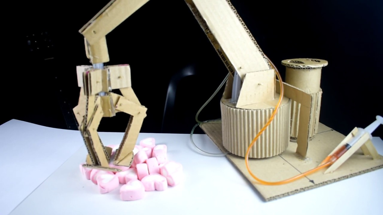 Cardboard Hydraulic Ar : How to make hydraulic powered robotic arm from cardboard