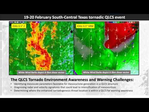 April Webinar Wednesday - The Feb 19-20 2017 S. Central TX Tornadic QLCS Case Study