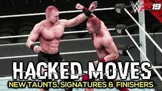 WWE 2K19 Hacked Moves Pack | New Finishers, Signatures, Taunts & Comebacks