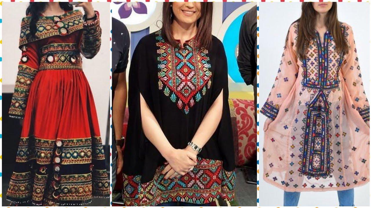 Top Stylish Pashto Pathani Afghani & Balochi Dresses Collection 2019