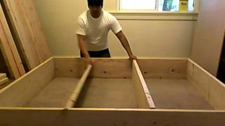 Building Platform Bed Frame Part 2 Of 10