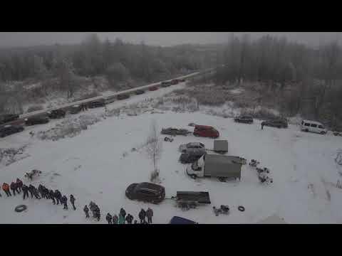 Видео с квадрокоптера соревнований по картингу п.Красный