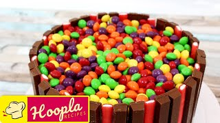 Skittles Cake | Birthday Cake Ideas | Cake Recipes by HooplaKidz Recipes