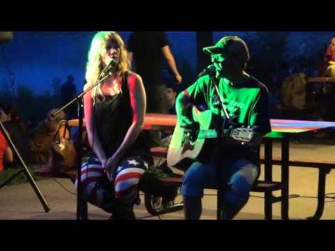 Steve & Michaela McLain - Fishin' in the Dark (Emerson Drive cover) 7-4-15