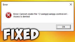 Access Denied Creating Xampp-control.ini