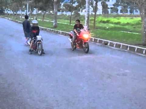 Ninja 150 RR VS Suzuki Satria 125 cc BY CCMS