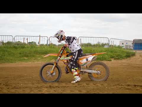 Riding Brad Anderson's KTM 250SX twostroke motocross race bike