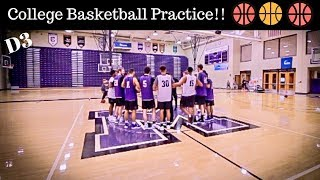 INSIDE A DIVISION 3 BASKETBALL PRACTICE!!