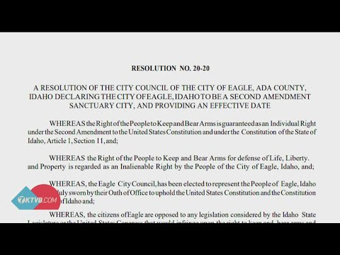 Eagle becomes the second city in Idaho to declare itself 'Second Amendment' sanctuary city