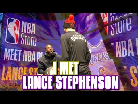 Lance Stephenson And I Have A Connection At The NBA Store!
