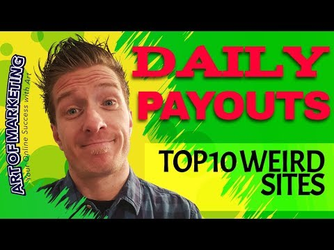 10 WEIRD Websites That Pay You DAILY 😍 Easy Work At Home Jobs 😍🤑😎