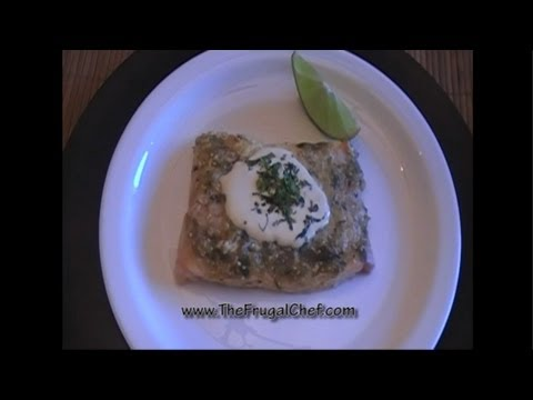 How To Make Baked Fish With Tomatillo Salsa And Sour Cream