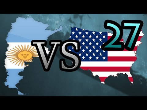 Argentina vs USA [27] Hearts of Iron IV HOI4