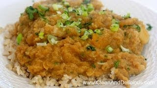 Red Lentil Stew W/ Root Veggies - Clean Eating Recipe