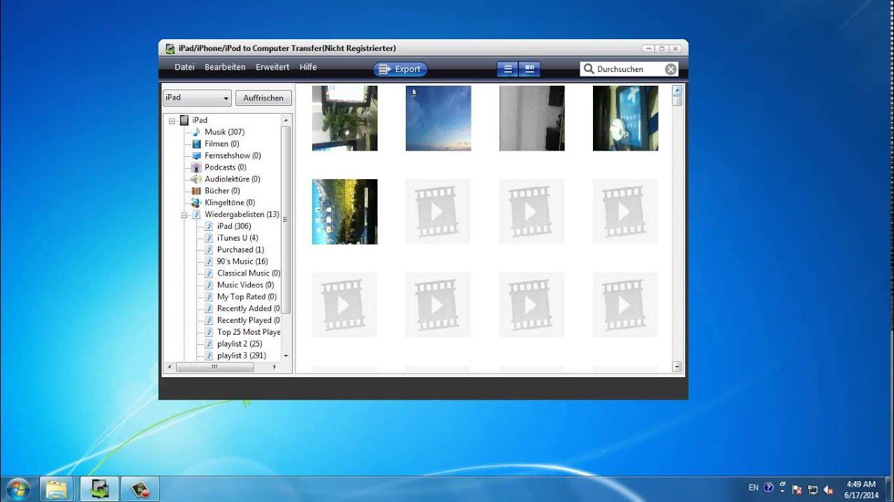 daten von ipad auf windows pc übertragen