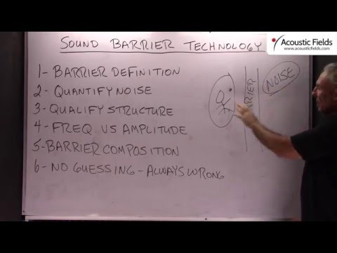 Sound Barrier Technology - www.AcousticFields.com