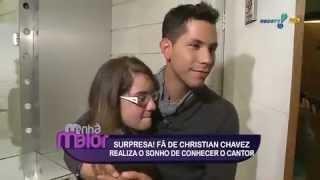 Christian Chávez faz surpresa para fã no Manhã Maior