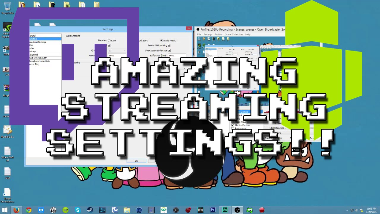 Best Twitch Streaming Settings Obs