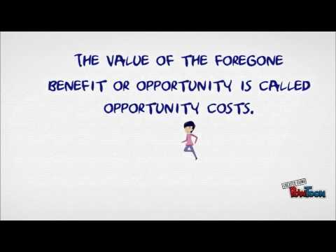 What is opportunity costs?