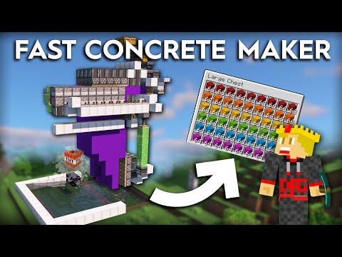 Minecraft Concrete Maker/Breaker - 14000 Per Hour - 1.16