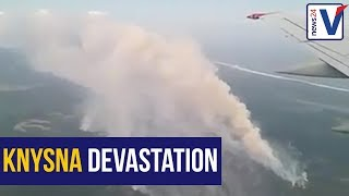 WATCH: Airplane footage shows devastating Knysna fire from above
