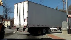 18 Wheeler making wide right turn