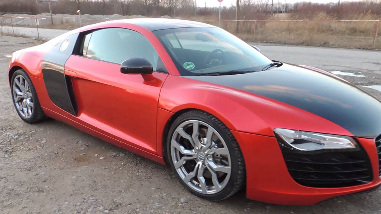 audi r8 in rot schwarz new color cherry red black und flitter youtube. Black Bedroom Furniture Sets. Home Design Ideas