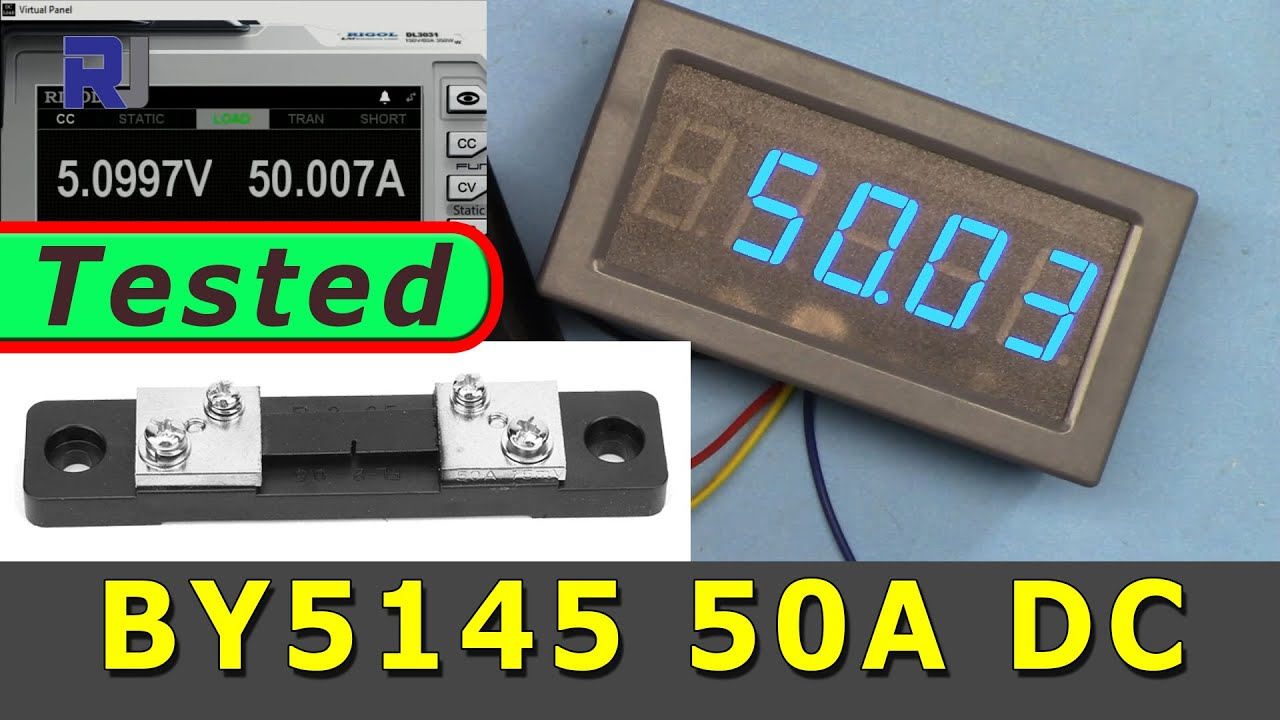 Jadeshay 50A 75mV Shunt Resistor DC amp/èrem/ètre Panneau shunt/é Testeur de Courant for Digital amp/èrem/ètre Compteur analogique FL-2