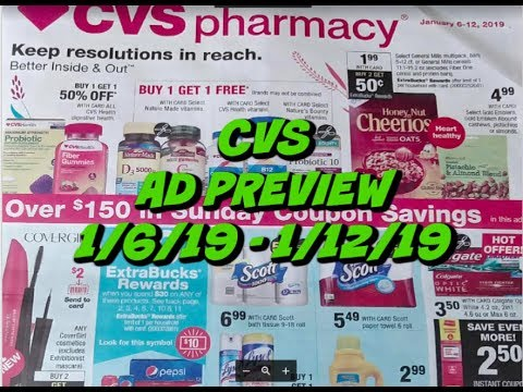 CVS AD PREVIEW 1/6/19 -1/12/19 | FREE TOOTHPASTE, TONS OF MAKEUP DEALS & MORE!