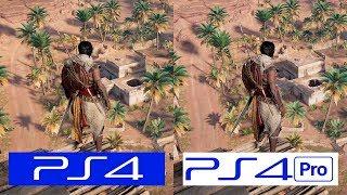 Assassins Creed Origins | PS4 VS PS4 Pro | GRAPHICS COMPARISON | Comparativa