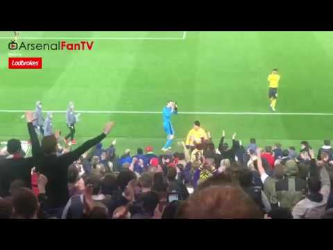 Arsenal Players Thank The Travelling Gooners At Middlesbrough!