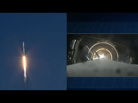 SpaceX Falcon 9 launches TESS & Falcon 9 first stage landing